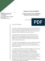 Lettre du Ciane au Pr Bréart sur les maisons de naissance, février 2007