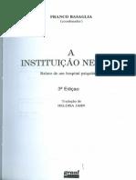 BASAGLIA, Franco. as Instituições Da Violência.