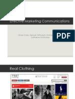 effective marketing communications presentation