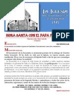 HORA SANTA CON EL PAPA. La Iglesia. Vocación universal a la santidad (14)