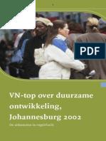 VN-Top Over Duurzame Ontwikkeling,Johannesburg 2002