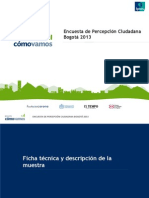 Encuesta de Percepcion Ciudadana 2013 Bogota