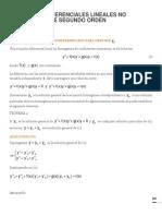 Ecuaciones Diferenciales Lineales No Homogeneas de Segundo Orden OK