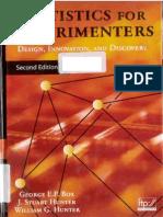 19709663 Statistics for Experimenters 2nd Ed Box Hunter Hunter 2005