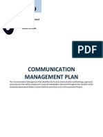 Communication Management Plan 03 23 2009