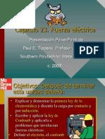 Tippens Fisica 7e Diapositivas 23 Fuerza Eléctrica