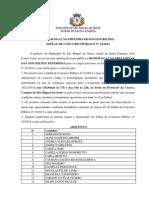 Homologacao Preliminar Concurso Publico 022 2014