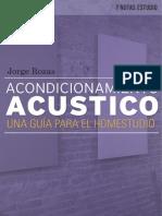 Acondicionamiento Acústico- Una Guía Para El Homestudio