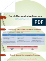 French Demonstrative Pronouns