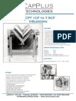 5 CF v-blender Brochure