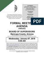 Maticopa County Board Of Supervisors Meeting Agenda 1-7-15