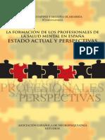 La Formación de Los Profesionales de La Salud Mental en España