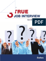 3 true job interview questions