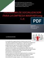 PROGRAMA DE SOCIALIZACION