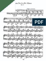 Piano Sonata No 2 in Bb, Op 35