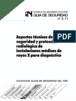 GSG-05.11 Aspectos Tecnicos de Seguridad y Proteccion Radiologica de Instalaciones Medicas de Rayos X Para Diagnostico OCR