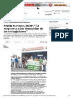 Según Moyano, Macri _da Respuesta a Las Demandas de Los Trabajadores_ - Tiempo Argentino _ Es Tiempo de Un Diario Nuevo