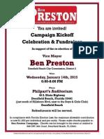 Preston - Campaign Kickoff Fundraiser