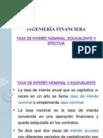 Tasa de Interés Nominal, Equivalente y Efectiva