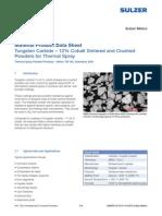 Material Product Data Sheet Tungsten Carbide Sulzer