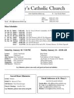 Bulletin for Janurary 11, 2015