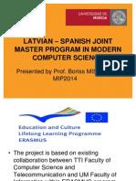 LV ES Joint Master Program Mip2014