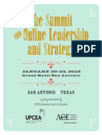 2015 Summit for Online Leadership and Strategy Program