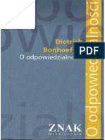 Dietrich Bonhoeffer - O OdpowiedzialnoÅ›Ci