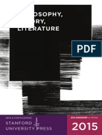 2015 Philosophy, Theory, & Literature Catalog