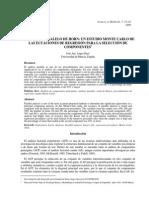 El Anlisis Paralelo de Horn - Un Estudio Monte Carlo de Las Ecuaciones de Regresin Para La Seleccin de Componentes
