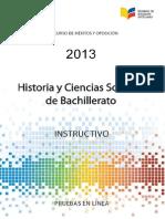 Instructivo Estudios Sociales Ser Bachiller 2013