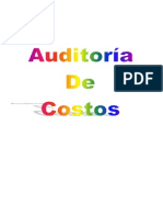 Auditoria de Costos