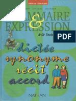 Grammaire Et Expression 3eme-4eme