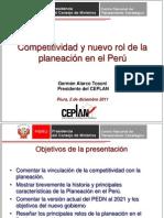 Competitividad y Nuevo Rol de La Planeacion en Peru