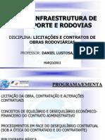 Programa (Aulas) - Licit...de Obras Rodoviárias