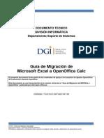 Guia de Migracion de Microsoft Excel a Openoffice Calc