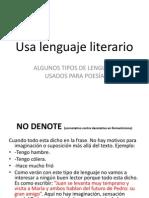 Guías Para Escribir Poemas - Lenguaje Literario