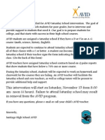 santiago avid saturday school intervention fall 2014
