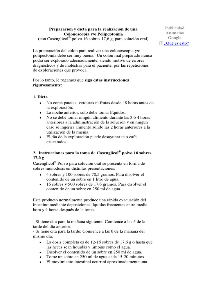 preparación colonoscopia opción bohm®