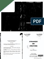 Dynacmique Des Structures, Tome 1 Principes Fondamentaux (J.penzIEN Et R.W.clouGH)