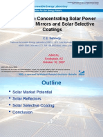 Advances in Concentrating Solar Power Collectors