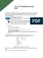 A Deeper Look at Personalization Using Visual Basic 2005