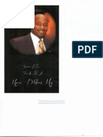 Myron May's funeral program