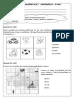 Av. Diag. 1 (Mat. 3º Ano) - (Blog Do Prof. Warles)