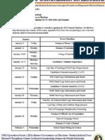 Memo 201521 - Ateneo COMELEC Calendar for SY 14-15, 2nd Semester