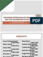 Program Perencanaan Pangan Dan Gizi Kecamatan Kutasari