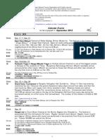Calendar Events 201309