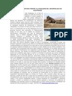 Acciones Del Estado Frente a La Realidad Del Archipielago de Galapagos