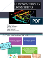 Enzimas Monomericas y Oligomericas