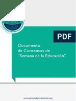 Documento-Consensos-Semana de La EDUCACION ARGENTINA